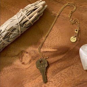 "Gold ""Love"" Giving Keys Necklace"